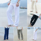 2019 Mens Linen Loose Pants Beach Drawstring Yoga Casual Long Slacks Trousers