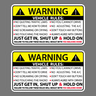 Kyпить Vehicle Rules Funny Vinyl Sticker Car Truck Window Decal Safety Warning JDM Auto на еВаy.соm