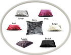 Luxury Crushed Velvet Dog Pet Bed Soft & Comfy Washable Cushion Zipped Cover