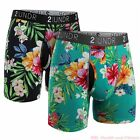 """Two-Pack 2UNDR Swing Shift Performance 6"""" Boxer Briefs - Men's Active Underwear <br/> AUTHORIZED DEALER! 20,000+ HAPPY CUSTOMERS, FAST SHIP!"""