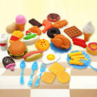 34X Fast Food Model Toy Hamburg French Fries Hot Dog For Kids Pretend Play Set M