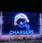 Los Angeles Chargers Football Dual Color LED Neon Sign Light Sign 2 Sizes $88.21 USD on eBay