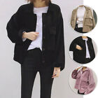Autumn Spring Women Lady Corduroy Top Coat Casual Vintage Casual Loose Jacket