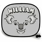 KOALA ANIMAL PERSONALISED CAR SUN SHADE Window Kids baby birthday gift present
