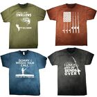 FISHING T-SHIRT OIL WASH NICE FISH FUNNY BOAT GIFT FLAG FATHER LURE ADULT S-3XL image