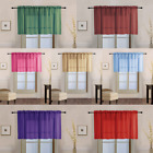 """1PC SHEER STRAIGHT VALANCE WINDOW CURTAIN TOPPER SOLID COLORS 55"""" W X 18"""" L"""