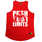 Push Your Limits Gym bodybuilding workout training funny Birthday TRAINING VEST