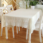 Vintage Cotton Embroidered Lace Tablecloth Mat Sofa Doily Cover Home Decor Gift
