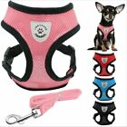 NEW Soft Breathable Air Nylon Mesh Puppy Dog Pet Cat Harness and Leash Set sz L