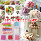 13/21 Heads Silk Peony Rose Artificial Flowers Wedding Bouquet Home Party Decor.