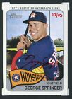 (1) George Springer 2014 Topps Heritage Real One RED INK auto RC autograph  10