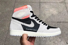 Air Jordan 1 Retro High OG NEUTRAL GREY HYPER CRIMSON | 555088-018