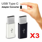 3pcs Micro Usb Female To Usb 3.1 Type C Male Adapter Charger Converter Connector