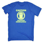 Funny Kids Childrens T-Shirt tee TShirt - Caution Excessive Sound Levels Glow In