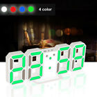 Night 3D Modern 24/12 Hour Display LED Digital Numbers Wall Clock Home Kitchen