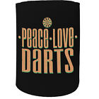 Stubby Holder - peace love darts - Funny Novelty Birthday Stubbie