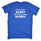 Funny Kids Childrens T-Shirt tee TShirt - Looks From Daddy Brains From Mummy