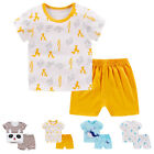 Cute Toddler Boy Cartoon Animal Clothes Sets Outfits Suits Kids T-shirt + Shorts