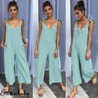 Womens Holiday Playsuit Jumpsuit Romper Summer Beach Wide Leg Pants HOT