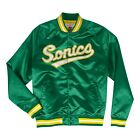 Mitchell & Ness Green NBA Seattle SuperSonics Lightweight Satin Jacket on eBay