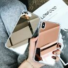 Luxury Mirror Plating Phone Case Mirror Phone Cover For iPhone Silicone Reflex