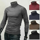 Mens Casual Turtle Neck Pullover Sweaters Basic Design Turtleneck Made in Korea