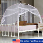 White Portable Folding Mesh Insect Bed Canopy Dome Tent Mosquito Net Bedding  image