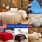 Super Soft Warm Value Solid Plush Fleece Blanket For Queen/King Bedding Throw  image