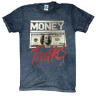 MONEY TALKS T-SHIRT ACID-WASH 100$ BILL HIGH QUALITY ASSORTED COLORS SIZE S-3XL image