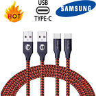10FT/3M Galaxy S9 Plus S9 Note 8 USB-C Type C FAST Charging Sync & Charger Cable