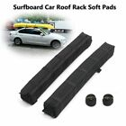 2pcs Black EVA Soft Pads Car Roof Rack For Outdoor Camping Luggage Kayak Surfing