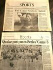 (Pick) Newspaper 49ers Giants A's (1989 Battle Bay Henderson Record Bonds WS)