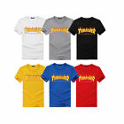 2019 Men Women Kids Top Tee Thrasher T Shirt Flame Skateboard Magazine Couple