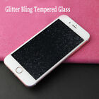 Thin Diamond Glitter Tempered Glass Screen Protector Fr iPhone 5 6S 7 8 Plus