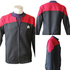 Star Trek Cosplay Voyager Command Captain Costume Red Color Shirt Jacket Uniform on eBay