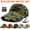 Mens Womens Army Cotton Military Vintage Camo Polo Style Baseball Ball Cap Hat