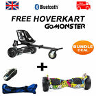 FREE Suspension Hoverkart With Graffiti 8.5″ Bluetooth Hummer Segway Hoverboard