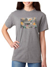 USA Made Bayside T-shirt Country Covered Bridge Fall Autumn