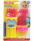 Nuby 9-Piece Fork and Spoon Travel Set Compact Case - Red/Yellow