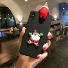 3D Xmas Christmas Santa Claus Elk Soft Phone Case Cover For Huawei Xiaomi OPPO