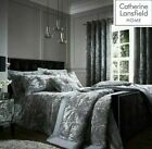 Catherine Lansfield Silver Crushed Velvet Quilt Cover Bedding Set & Accessories  image