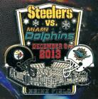 Steelers 2013 Game Day Pin Choice 5 pins Dolphins Ravens Lions Bengals Titans