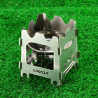 Lixada Portable Outdoor Cooking Camping Titanium Folding Wood Stove S/M/L I5Z8