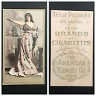 1890 1902 ATC CIGARETTE CARDS CHOOSE 1 OR MORE BEAUTIES LIGHT BROWN FRAME LINES