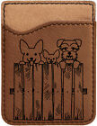 Peeking Pups Laser Engraved Leather Phone Wallet