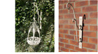 Cream Hanging Basket Or Bracket Distressed Finish Garden Outdoor Plants Flowers