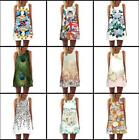 Woman Sleeveless dress Poker angel Floral Printed Vest Loose dress S-2XL 9Style $11.9 USD on eBay