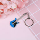 Creative metal electric guitar mini keychain key chain key ring gifts PVCA