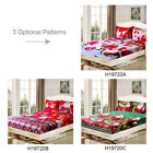 3D Xmas Bedding Set Santa Claus Print Fitted Bed Sheet Pillowcase Practical C6E1 image