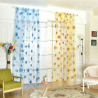 1/2PC Grassy Living room curtains transparent decoration Sunflower tulle Sheer